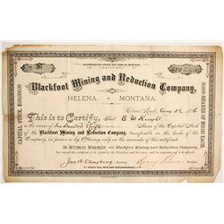 Blackfoot Mining and Reduction Company Stock  (77073)