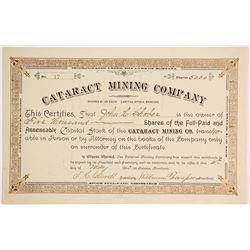 Cataract Mining Company Stock  (90414)