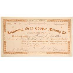 Lightning Gray Copper Mining Company Stock  (90415)