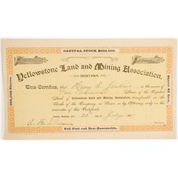 Yellowstone Land and Mining Association stock  (90402)