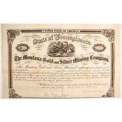 Montana Gold and Silver Mining Company Bond  (77068)