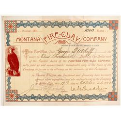 Montana Fire-Clay Company Stock  (77070)
