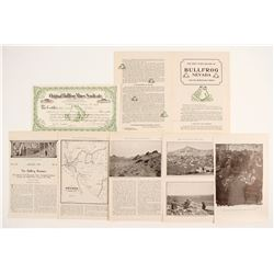 Original Bullfrog Mines Stock Certificate and Stories   (88423)