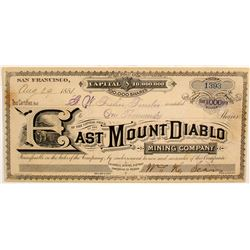 East Mount Diablo Mining Company Stock  (77045)