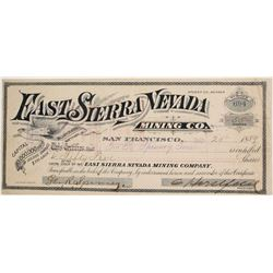 East Sierra Nevada Mining Company Stock  (77084)