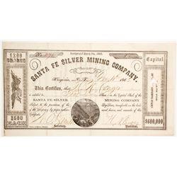Santa Fe Silver Mining Company Stock  (88704)