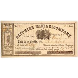 Sapphire Mining Company Stock  (88702)