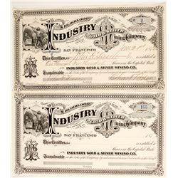 Industry Gold & Silver Mining Company Stock  (88736)
