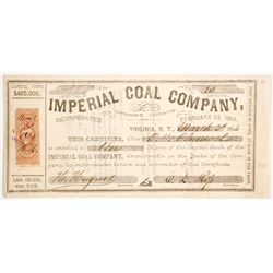 Imperial Coal Company Stock (Nevada Territory Coal!)  (88703)