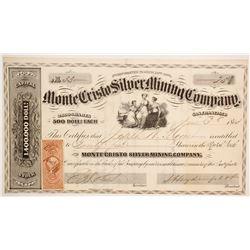 Monte Cristo Silver Mining Company Stock  (89479)