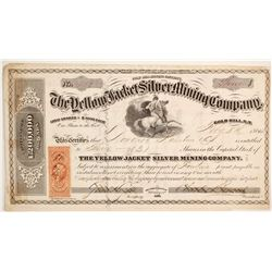 Yellow Jacket Silver Mining Company Stock - Rare Territorial and William Chapman Ralston Related  (8