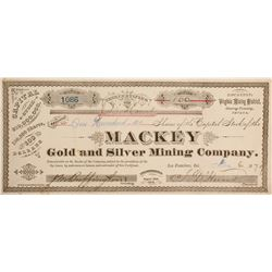 Mackey Gold and Silver Mining Company Stock  (90516)