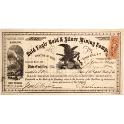 Bald Eagle Gold and Silver Mining Company Stock  (88701)