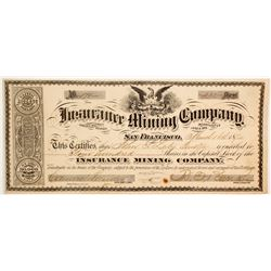 Insurance Mining Company Stock - a G. T. Brown Lithograph  (88735)