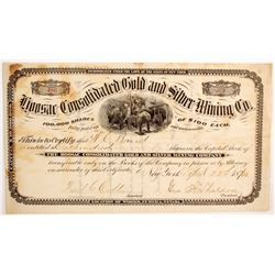 Hoosac Consolidated Gold & Silver Mining Company Stock  (88739)