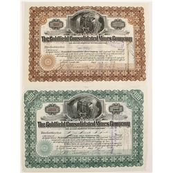 Goldfield Con Mines Stock with Wingfield Sigs  (90318)