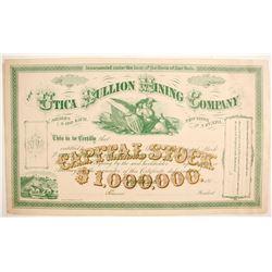 Utica Bullion Mining Company Specimen Proof  (77050)