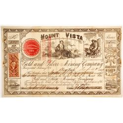 Mount Vista Gold and Silver Mining Company Stock  (88718)