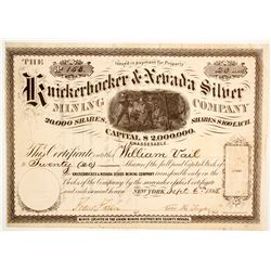 Knickerbocker & Nevada Silver Mining Company Stock  (88738)