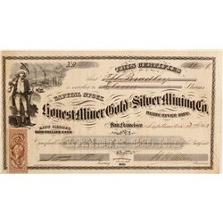 Honest Miner Gold and Silver Mining Company Stock  (90508)
