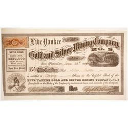Live Yankee Gold and Silver Mining Company No. 2 Stock  (88712)