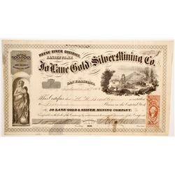Jo Lane Gold and Silver Mining Company Stock  (88711)