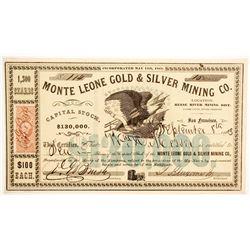 Monte Leone Gold & Silver Mining Company Stock  (88713)