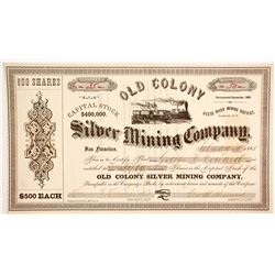 Old Colony Silver Mining Company Stock  (88714)