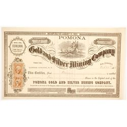 Pomona Gold and Silver MIning Company Stock  (88716)