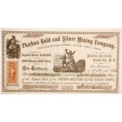 Phoebus Gold and Silver Mining Company Stock  (88710)
