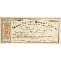Alhambra Hill Silver Mining and Tunnel Company Stock  (88722)