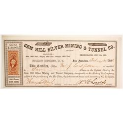 Gem Hill Silver Mining & Tunnel Company Stock  (88724)