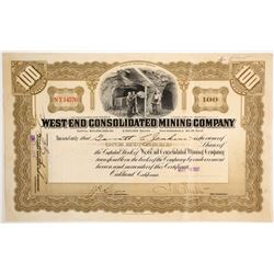 West End Con. Mining Stock  (89357)