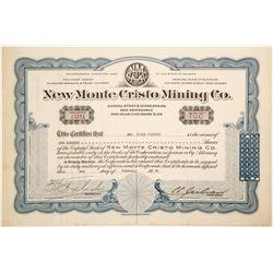 New Monte Cristo Mining Co. CC Julian Sig  (91041)