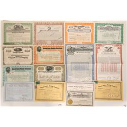 Utah Mining Stock and Bond Collection (15)  (90313)