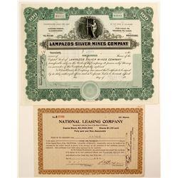 Lampazos Silver Mines Company  (91033)