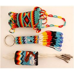 Beaded Key Chain & 2 Containers  (87705)