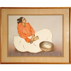 """R.C. Gorman signed Litho """"Mimbres 1984"""" (91189)"""