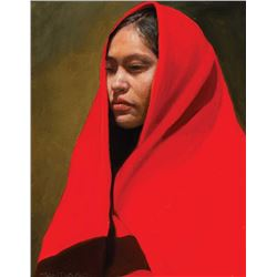 Roseta Santiago-Girl from Gallup in Red Trade Blanket
