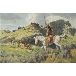 Charles Fritz-Assiniboine Wolves Along the Elk River