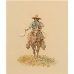 Olaf Wieghorst-Indian Trails