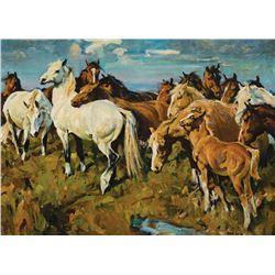 Frank Hoffman-Curious Herd