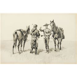 Frederic Remington-A Serious Warning
