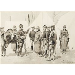 Frederic Remington-At the Mouth of Rapid Creek—General Carr Receiving the Report of a Scout