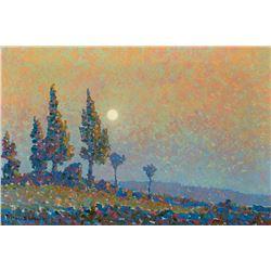 Birger Sandzen-Moonlit Poplars