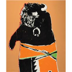 Fritz Scholder-Deformed Buffalo Dancer