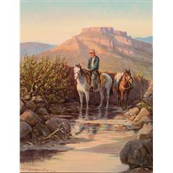 Olaf Wieghorst-Superstition Creek