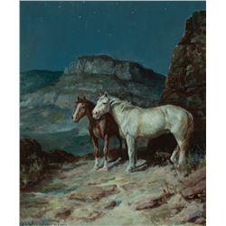 Olaf Wieghorst-Mountain Ponies