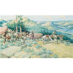 Nick Eggenhofer-Lewis and Clark on the Yellowstone with Sacagawea