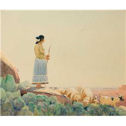 Gerard Curtis Delano-Navajo Shepherdess